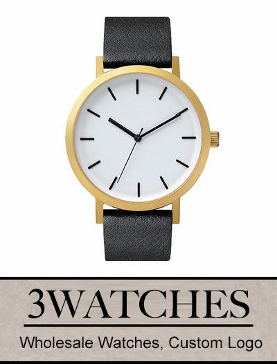 Thehorse Wholesale Watches. Custom Logo. Brushed Gold / Black Leather. Visiting: http://www.3watches.com/horse-watch/
