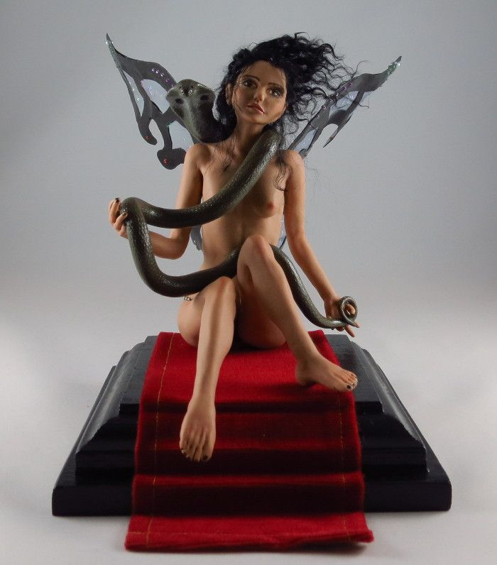 Snake Fairy Art Doll OOAK by Joanna Żarska