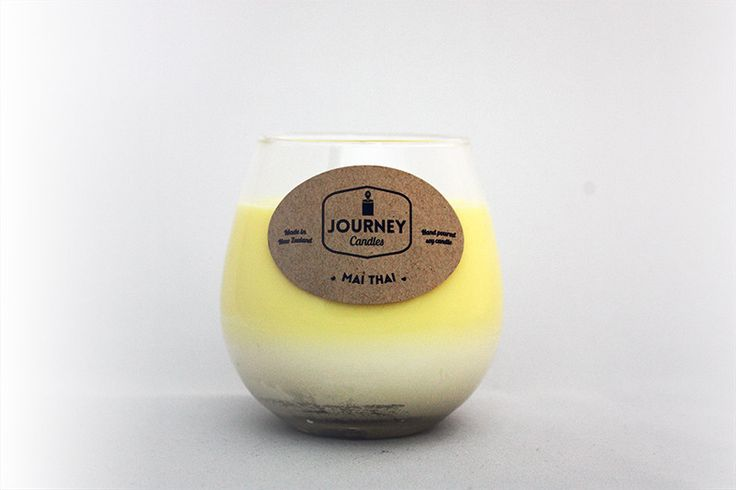 $28     Up to 120 Hours Burn Time    Dreaming of being back at a full-moon party or post diving cocktail on the beach? With our fruity mango and papaya sweet scented candle, our Thailand inspired candle in our two tone wine glass range will gather your favourite recollections.  Made from 100% soy wax and hand poured in NZ.     | Shop this product here: http://spreesy.com/journeycandles/9 | Shop all of our products at http://spreesy.com/journeycandles    | Pinterest selling powered by…