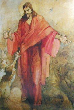 j kirk richards lion and the lamb | Christ in a Red Robe by Minerva Teichert