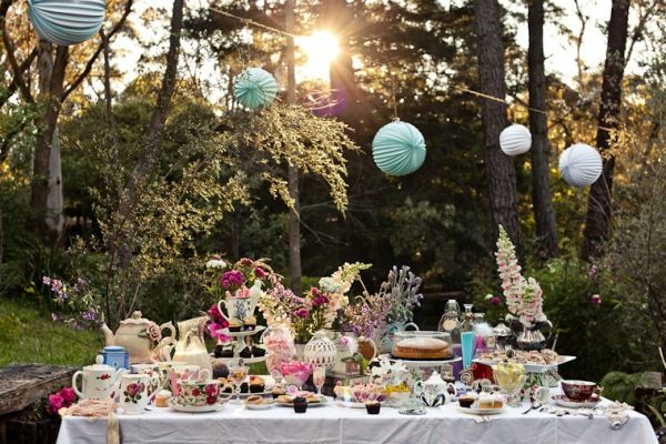 A whimsical tea party in a picturesque garden...love!