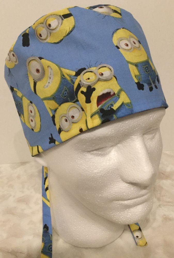51a35d8757c Minions Medical Surgery OR Skull Scrub Hat Chemo Cap  Handmade