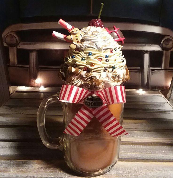 Gingerbreadman Candle Topper #gingerbreadman #faux #sweettops #cupcake #sundae #christmas #faux #winter #masonjar #gingerbreadman #candlescent