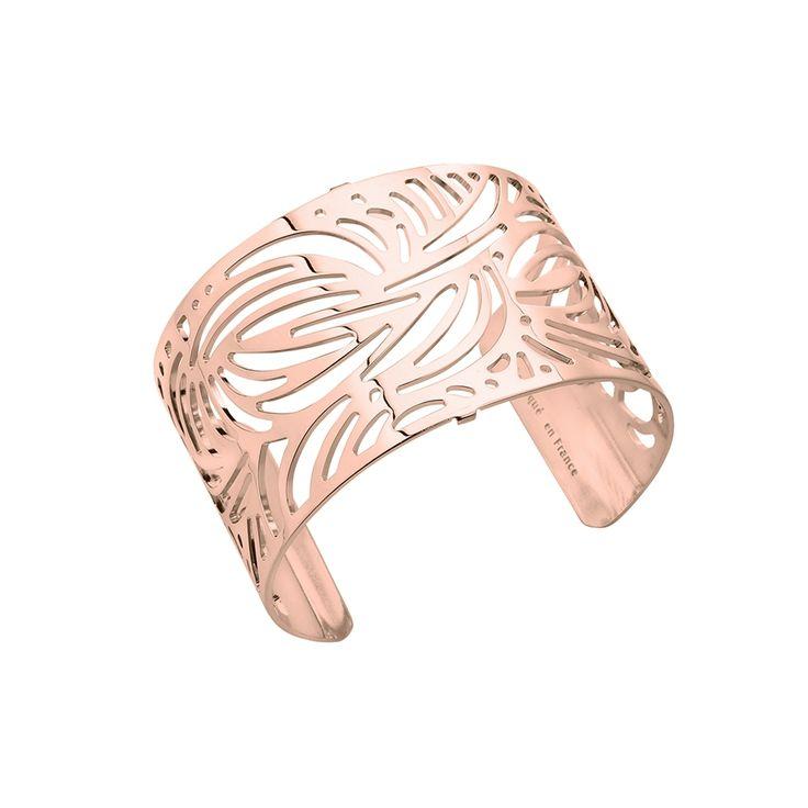 Bracelet manchette Les Georgettes Aloes Large finition or rose brillant #LesGeorgettes #Carador