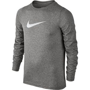 08c6f1659 Boy's Nike Dry Training Logo Long Sleeve T-Shirt (Dark Grey Heather ...