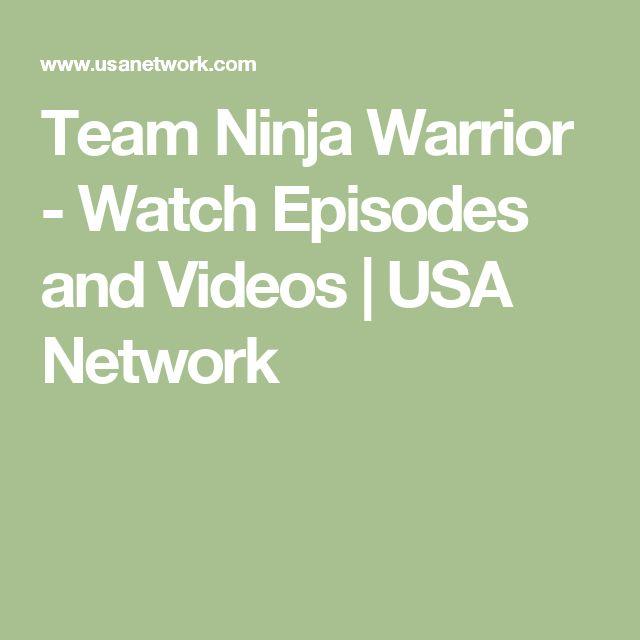 Team Ninja Warrior - Watch Episodes and Videos   USA Network