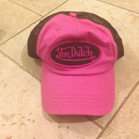 Von Dutch hat Hot pink and black! Von dutch Accessories Hats