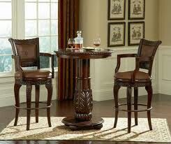 Two high table scenes with glasses and decanters, another with a tea set.