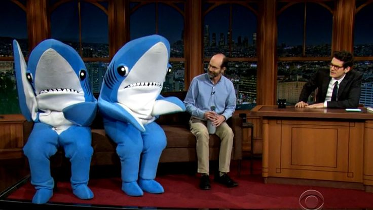 John Mayer Interviews Katy Perry's Super Bowl Sharks During His Late Late Show Guest Hosting Gig!  John Mayer, Sharks, Late Late Show