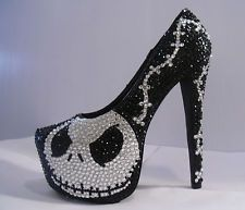 NIGHTMARE BEFORE CHRISTMAS HEELS (JACK SKELLINGTON)