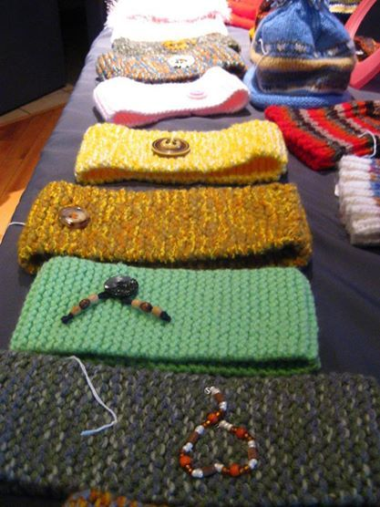 Handmade in Restigouche County, knitted headbands, available at East Wind Boutique Cooperative, (Dalhousie NB, Canada)