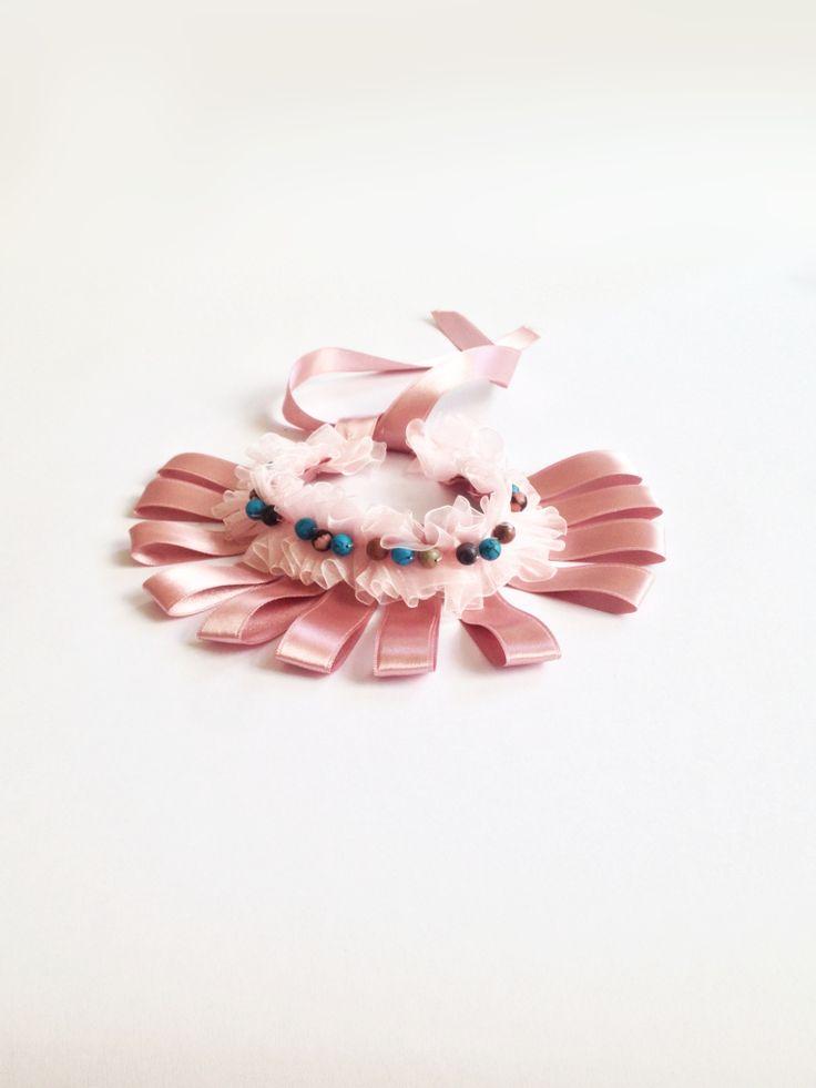 Romani Design ribbon necklace (pink) | Romani Design