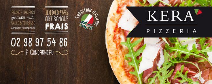 Creation Graphic Design • Social Media Cover - Facebook couverture - Menu Carte Food Restaurant Pizzeria •Par Agence de communication Branding Design TIKIÔ - Quimper Bretagne