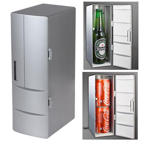 Портативный мини USB холодильник кулер мини USB PC напитки напиток банки морозильная камера для дома автомобиль прикольный гаджет - плагин и играть