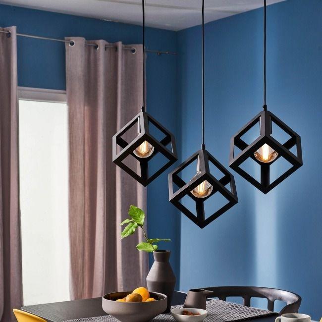 Lampa Wiszaca Sweden 3 X 60 W E27 Czarna Lampy Wiszace Home Decor Decor Ceiling Lights