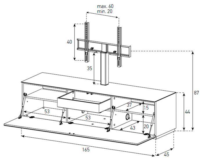 Medidas mueble de tv buscar con google muebles para for Medidas de muebles en planta