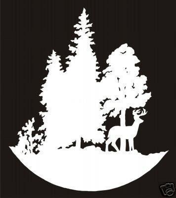 Deer in Trees Die Cut Decal, Hunting Decals, Fishing Decals, Hunting Sticker, Fishing Sticke#.U9CDzWfQe70#.U9CDzWfQe70