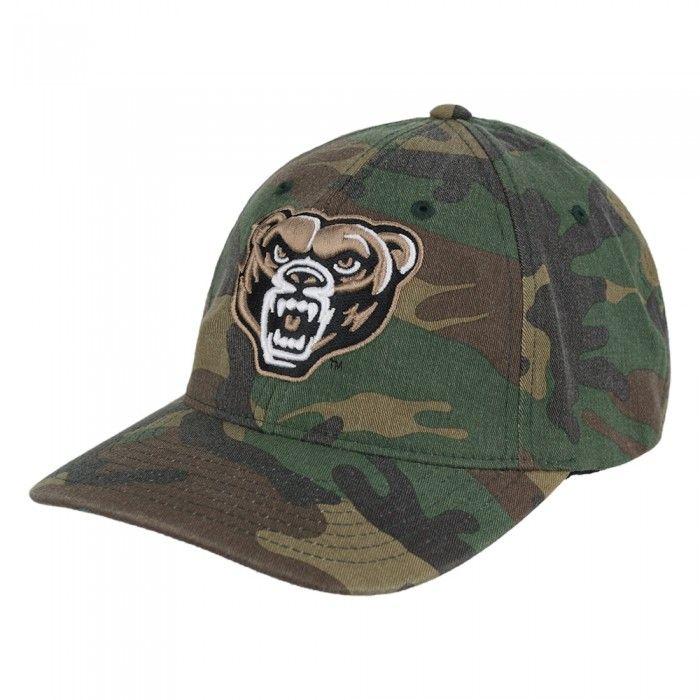 Oakland University Camo Flex Fit Hat At Campus Den