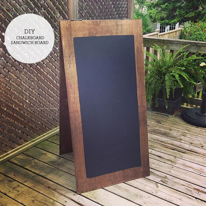 DIY chalkboard sandwich board (Great for kids,  weddings, craft fairs...)