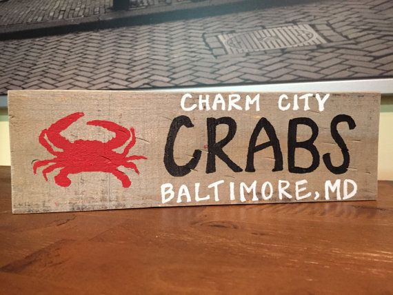 Charm City Crab Baltimore Maryland, home decor, reclaimed wood, home state,  old - 399 Best Images About Rustic Reclamed Wood Signs On Pinterest