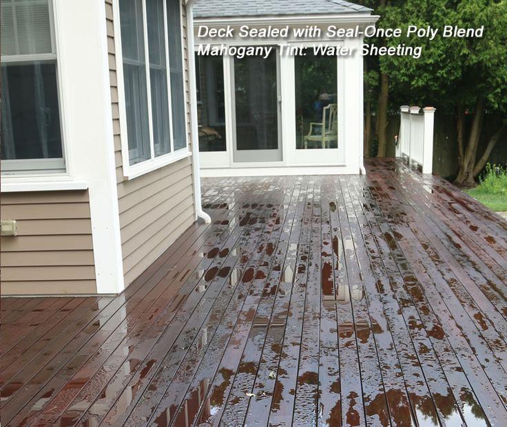 Seal-Once™ Poly Blend Waterproofing Wood Sealer