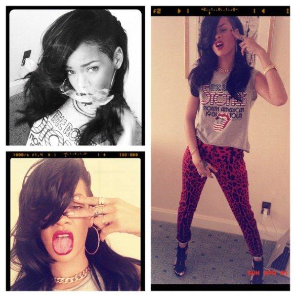 Nuovo look per Rihanna: taglio alla moicana e capelli nero corvino