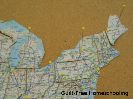 Close Up Of Puzzle Map Showing Pins This Is A Great Resource For Classical Geography Mapus