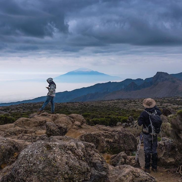 One of my favourite images from my Kilimanjaro trip. Another one with Mount Meru in the background shot from Kilimanjaro.  #adventureculture #mountains #kilimanjaro #love #sky #clouds #africa #tanzania #adventureawaits #adventureisoutthere