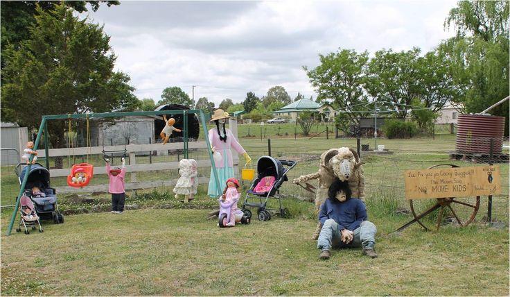 "2012 Scarecrow winner ""Rambo's Revenge"" by Sharyn & Rick   Deepwater Scarecrow & Wool Festival"