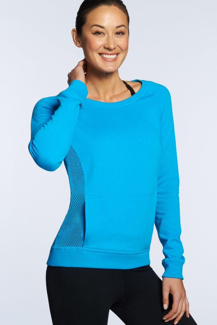 The open mesh Bonita Pullover features a convenient front kangaroo pocket. Bonita Pullover - Fabletics