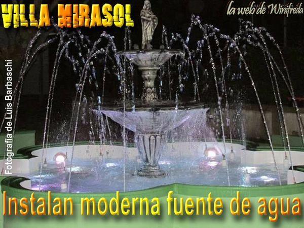 Instalan moderna fuente de agua