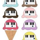 Kids can quickly learn the names of the piano keys with this fun game. Each time the child answers correctly, he gets another scoop of ice cream. B...