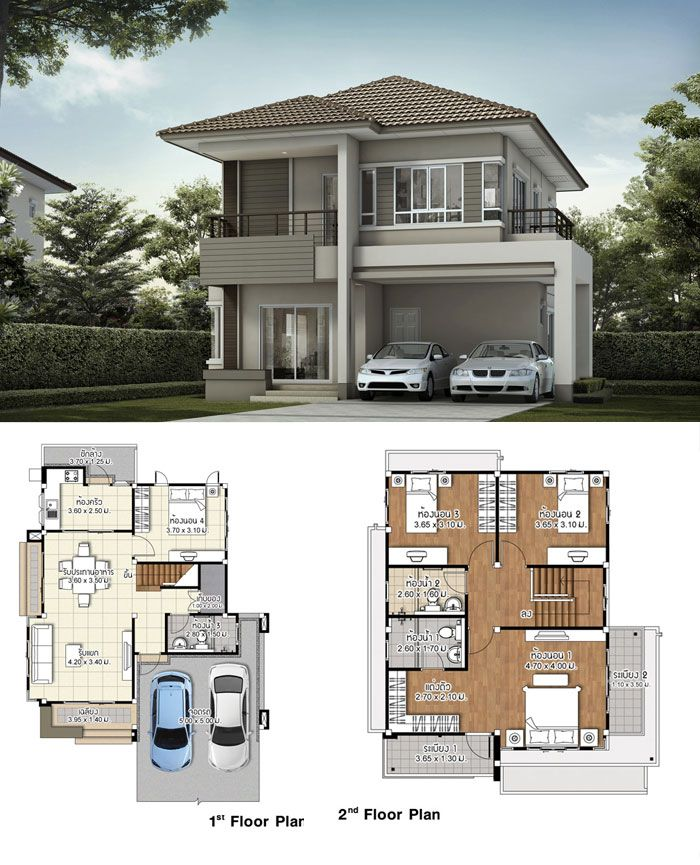 Two Design Choices Two Storey Home Plans Ulric Home House Architecture Design Two Story House Design Modern House Facades