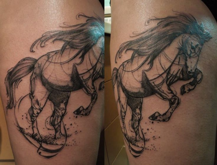 214 best horse tattoos images on pinterest horse tattoos for Tattoo artist paris