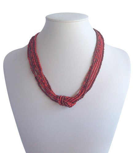 Love Knot Red Burgundy | Indigo Heart - Fair Trade Fashion A$19.50