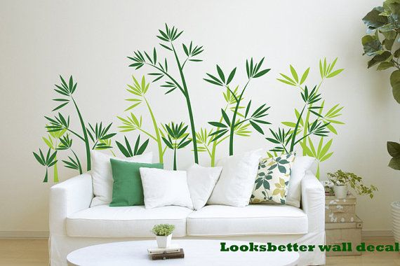Green Bamboo Forest Wall Decal Vinyl Wall Decals by looksbetter