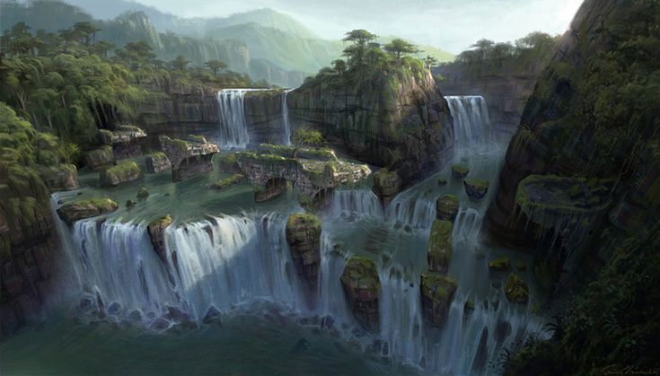 Ruined Bridge & Waterfall from Uncharted: Drake's Fortune