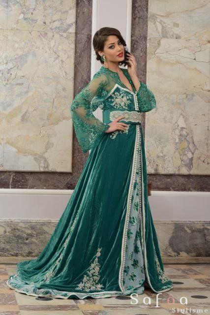 Robe de soiree oriental haute couture