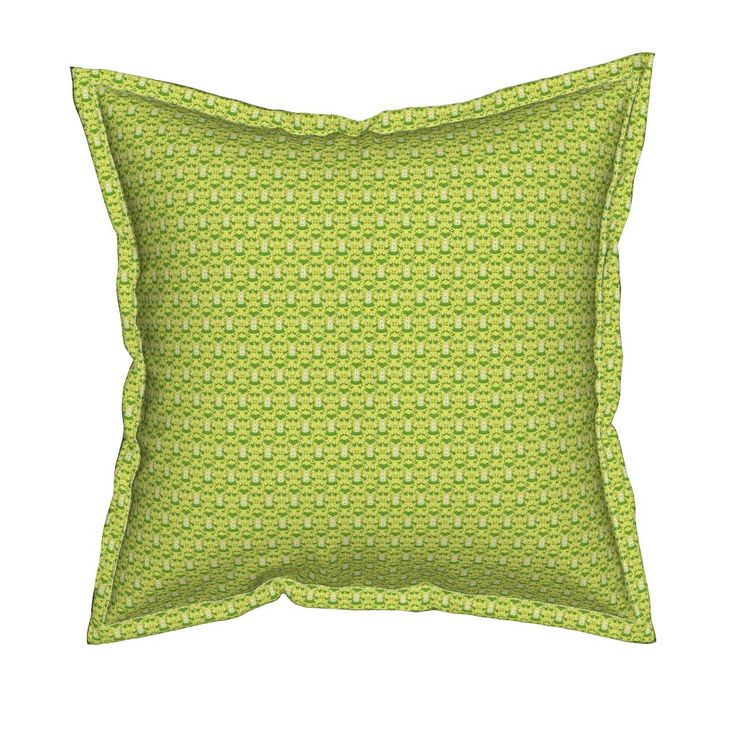 Serama Throw Pillow featuring Victorian Lime Green and Yellow Dresses Collage…
