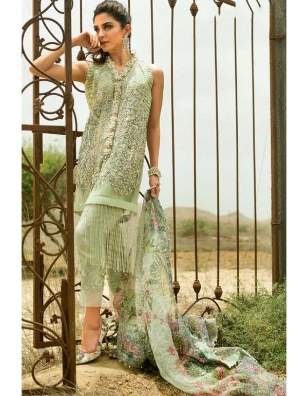 1dfcd92e56 Mint Green Heavy Embroidered Pant Kameez in 2019 | Pakistani Style Salwar  Suits | Pista green colour, Designer suits online, Mint green pants