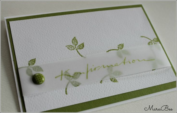 Konfirmation in grün.