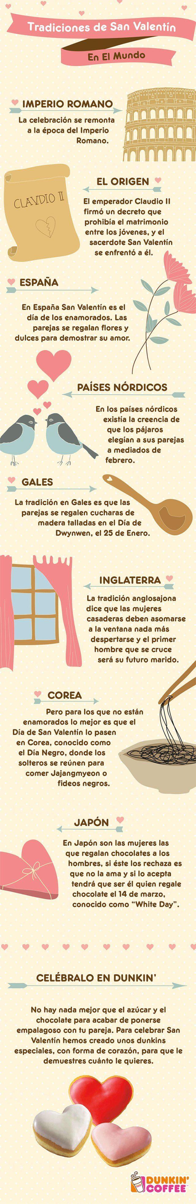 Tradiciones de San Valentín en el Mundo #infografia #infographic: