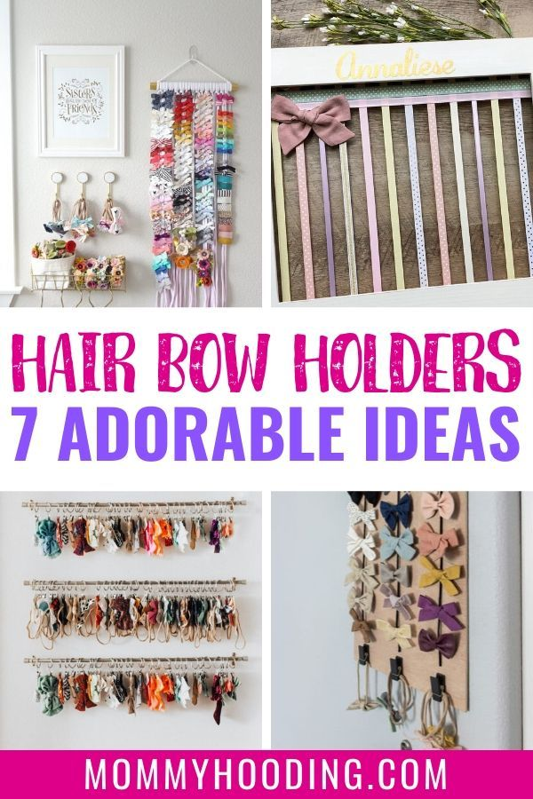 7 Hair Bow Holder Ideas You Ll Want To Copy Mommyhooding Bow Holder Diy Hair Bows Diy Hair Bow Holder