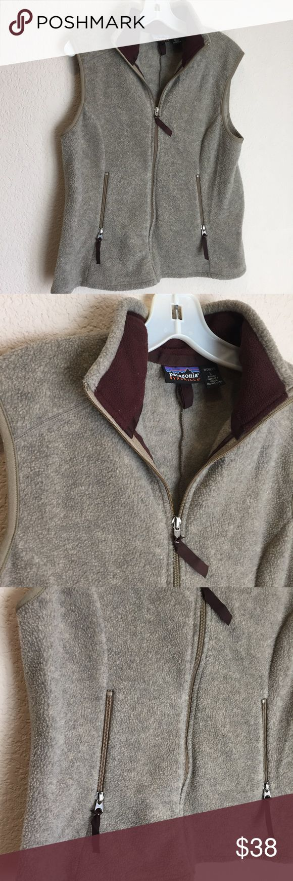 Patagonia synchilla fleece full zip women's vest Patagonia synchilla fleece full zip women's vest great preloved condition Patagonia Jackets & Coats