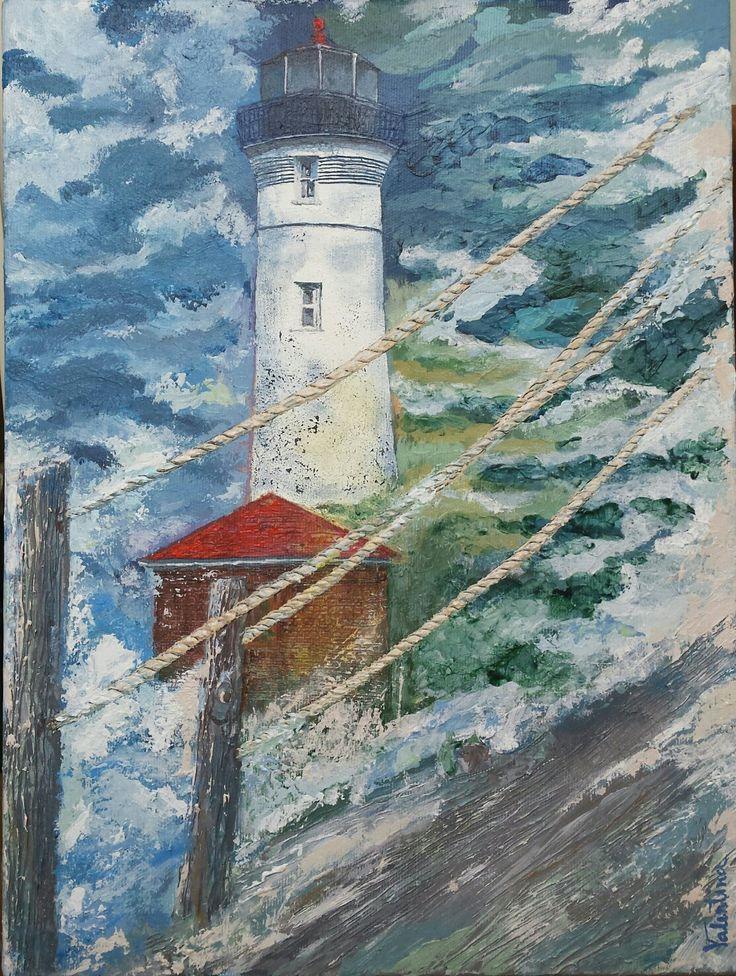 The lighthouse în the storm