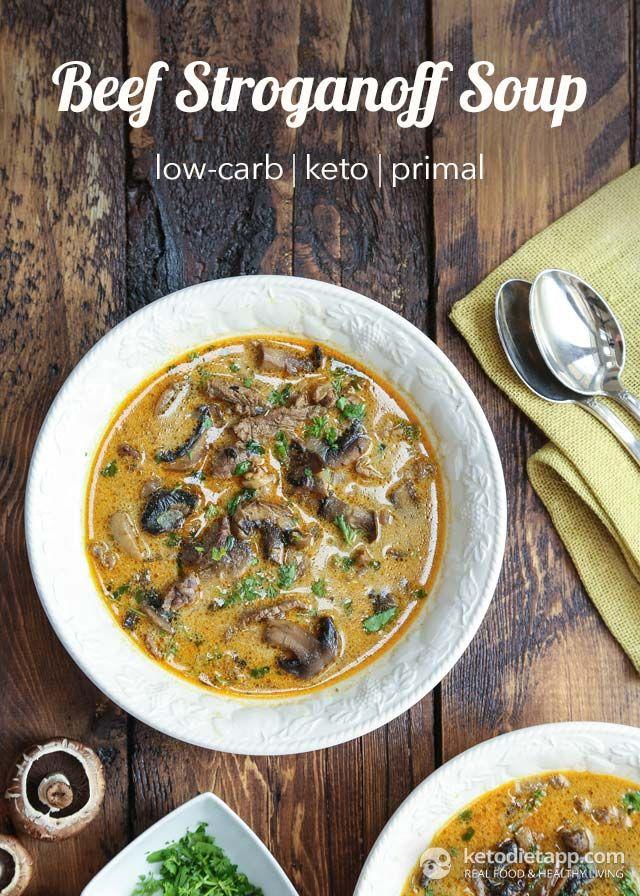 Keto Beef Stroganoff Soup (low-carb, primal/ paleo)