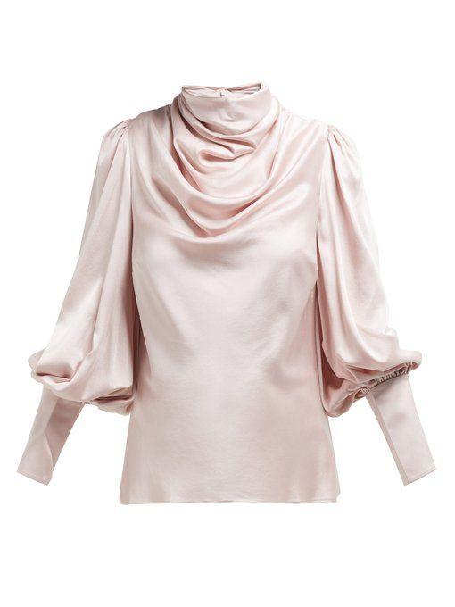 6e986d9d87 Ninety Six cowl-neck silk-blend satin blouse