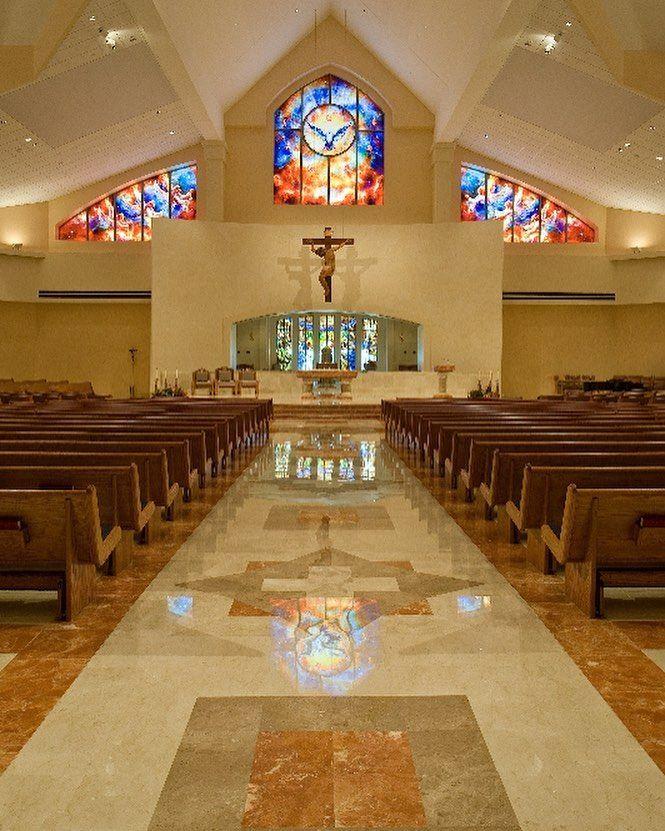 Marble Flooring Design For St Paul The Apostle Catholic Church Nassau Bay Tx New Church Int Church Interior Design Church Design Church Design Architecture