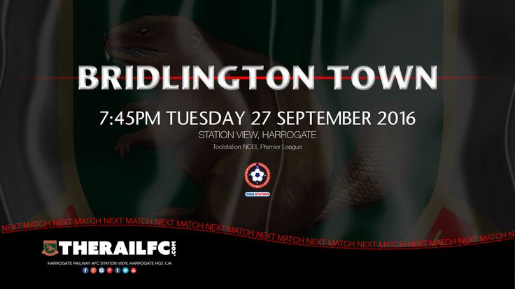 Next match: Harrogate Railway v Bridlington Town    @therailfc @Howell_rm