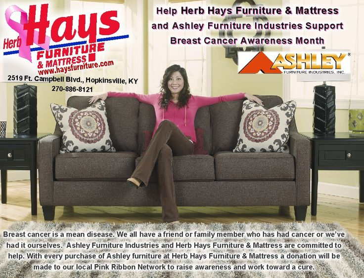 Thru october ashley furniture industries and herb hays furniture